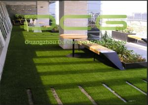 China Outdoor Commercial Artificial Grass Landscaping , Fake Grass Lawn Safe And Hygienic on sale