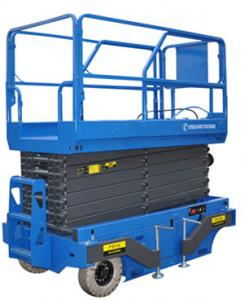 China Hydraulic Mobile Scissor Lift stable structure widely use 8m Hight 300Kg Loading on sale