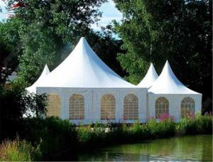 China Outdside Folding Gazebo Pagoda Tent 4m X 3m Polyester With Double Side PVC Coated on sale