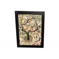 China Handmade Abstract Wall Arts Textured Oil Painting For Bedroom Decoration Flower Tree on sale