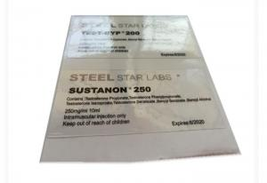 China Steel Star Labs Transparent Clear Vial Labels 6X3 cm  For Steroid V on sale