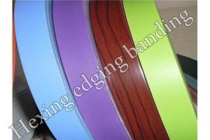 China High quality PVC solid color edge banding tape from Dongguan Hexing on sale