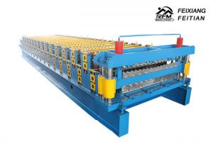 China Blue Corrugated Roofing Sheets Making Machines 8 - 12m/Min Working Speed on sale