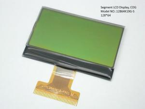 China Yellow or Blue Background Segment LCD Display 128 * 64 , 7 segment digital display on sale