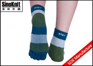 China Five Fingers  Better Tactile Feel Yoga Non Slip Logo Custom Athletic Sock Sports on sale