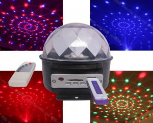 China LED crystal magic ball with mp3 and usb and sd card *led disco light wholesale*LED effect light on sale