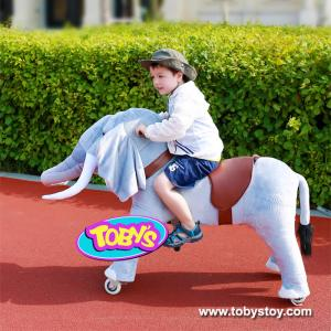 China Tobys  Amusement ride on  plush animal toy pony cycle on sale