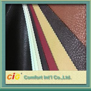 China Non - Fading Embossed PVC Artificial Leather Material / For ArmChair , CE REACH Approval on sale