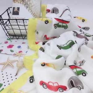 China Printed Soft Newborn Blankets Nursing Cover Double Layer Gauze No Fluorescent on sale