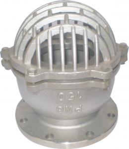 China 316L Stainless Steel Flanged Foot Valve For Water Pump or Bottom of Tank on sale