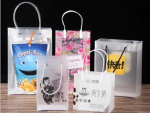 China Pp handbags custom transparent clothing plastic bags pvc advertising cosmetics jewelry bag custom on sale