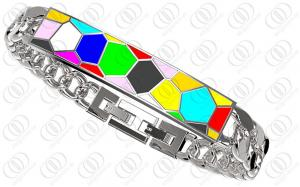 China Multi Color Bohemia Stainless Steel ID Medical Bracelets Curb Chain on sale