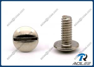 China 18-8 / 304 / 316 Stainless Steel Slotted Truss Head Machine Screws on sale