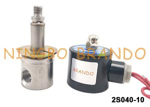 China UNI-D Type SUS-10 G3/8 Stainless Steel Solenoid Water Valve DC24V AC220V on sale