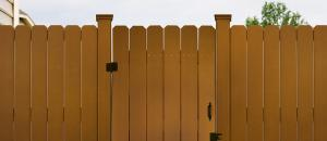 China Anti - UV Agent WPC Fence Panels Stair Handrail for Garden and Playground on sale