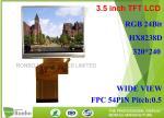 3.5 Inch Small LCD Screen 320 * 240 High Brightness RGB Interface 54 Pin