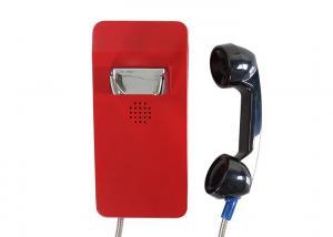 China Red Vandal Resistant Telephone Desk Mounting Ip66 GSM Sip Waterproof 2 Years Warranty on sale