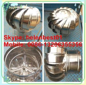 China 150mm roof turbo ventilator fo tube stainless steel on sale