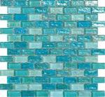 La tuile de mosaïque en verre de ondulation de l'eau bleu-clair pour la piscine d'hôtel a établi le matériel