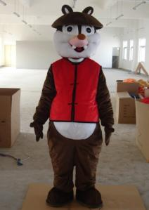 Quality Kid animal squirrel chipmunk mascot costumes with high-tech heads for sale