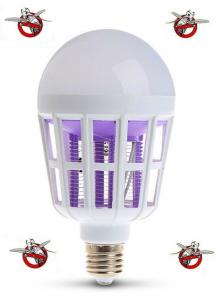 China E27 15W white light + 365 NM purple light Fly Pest Insects Reject Zapper Mosquito Killer LED Ball Steep Light Bulb light on sale