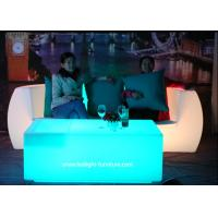 China Modern Design LED Light Furniture Sectional Corner And Straight LED Sofa With Cushion on sale