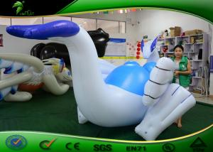 China Logo Printing Inflatable Cartoon Characters 4m Long Inflatable Dragon Shape With SHP on sale