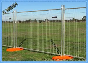 China 2.1*2.4 Regular Size Galvanized Welded Mesh Temporary Fence on sale