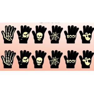 China Chinese Supplier New Products Funny Halloween Props Decration Luminous Kids Halloween Glow In Dark Knit Glove on sale