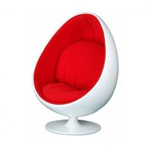 Design Fiberglass Base Egg Pod Chair/Unique Style Egg Shaped Ball Chair