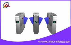 China Stainless Steel Flap Automatic Barrier Gate Rfid Entrance System on sale