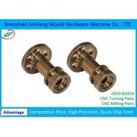 Non Standard Brass CNC Motor Parts +/-0.005mm Tolerance OEM / ODM Service