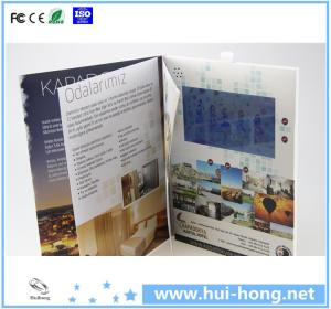 China video brochure/mini video advertising display/video greeting card on sale