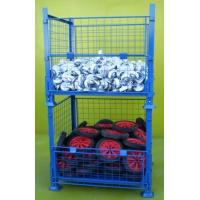 collapsible heavy-duty rigid mesh box wire cage metal bin storage container