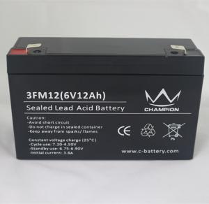 China 3FM12 6 Volt 12AH / 10AH AGM Lead Acid Batteries For Solar Power Stations on sale