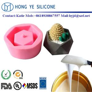 China RTV 2 silicone rubber for trilateral concrete/cement flower pot mould making on sale