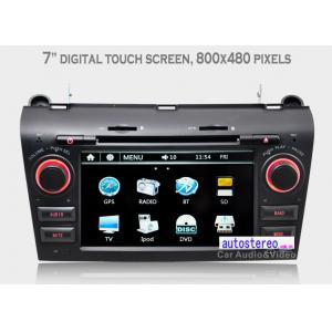 China Dans le stéréo de voiture de navigation de GPS de tiret pour Mazda 3, stéréo de voiture avec le port USB on sale