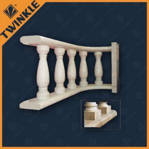 China Beige Arc Marble Balustrade / Custom Granite Outdoor Stair Handrail on sale