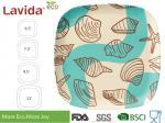Fresh Ocean sea shell Printed Bamboo Fibre Square Side Plate Plant Fibre Square Side dish 8 inch 19cm