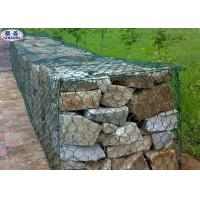 Custom Hexagonal Gabion Wall Cages / Wire Mesh Rock Retaining Wall