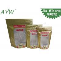 130 Mic Resealable Ziplock Food Packaging Bags FDA PET / PEFor Organic Beans