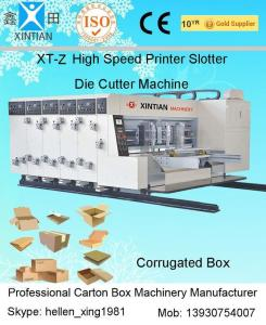 China Corrugated Board Automatic Sticker Flexo Printing And Die Cutting Machine on sale