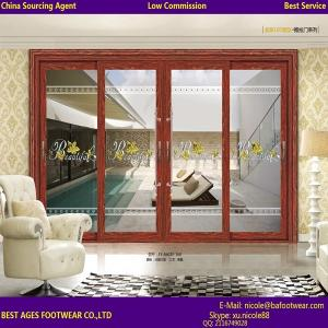 China Certification Double glazing glass aluninum frame interior Accordion door on sale