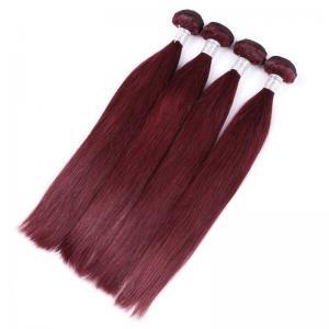 China 99j Burgundy Straight Brazilian Hair Peruvian Human Hair Weave Popular Sell Double Weft on sale