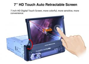 China Single Din 7 Inch Car Dvd Player Bluetooth With Automatic Expansion Screen on sale