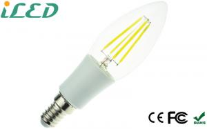 China E14 E12 4W LED Candle Bulbs 40W Equivalent , Decorative candle light bulbs Cool White on sale
