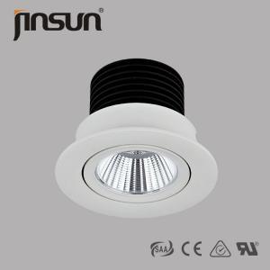 China Input Volt:100-240V AC 180degree rotatable 80mm cutout COB LED Downlight on sale