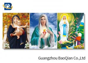 China High Definition Lenticular Flip 3d Printing Picture Christian Holy Virgin Jesus Pattern on sale