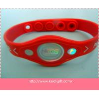 China Custom Cheap Embossed Printer Power Balance Silicone Wristband on sale