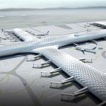 注文の生地の構造および鋼鉄軽い空港ターミナルおよび航空機の格納庫の建物